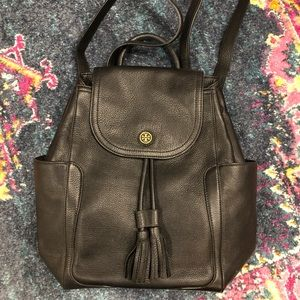Tory Burch Black Leather backpack (large)